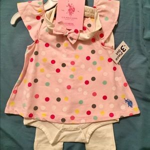 us Polo NWT Outfit with matching bow.